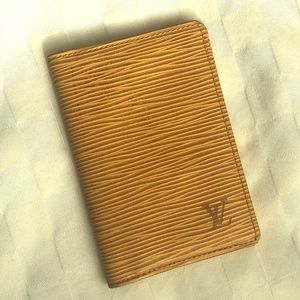 Authentic Louis Vuitton Epi Leather Card Case